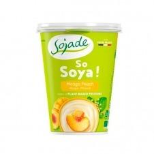 Yogur de Soja sabor Melocotón y Mango 400gr Sojade