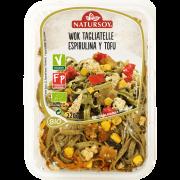 Wok Tagliatelle Espirulina y Tofu 200gr Bio Vegan Natursoy