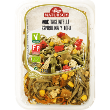 Wok Tagliatelle de Espirulina y Tofu 200gr Natursoy
