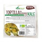 Tortilla de verduras con kale ecológica sin gluten, sin lactosa y sin huevo Soria Natural