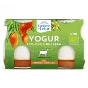 Yogur de cabra con mango y vainilla bio 2x125gr El Cantero de Letur