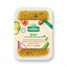 Arroz con verduras y setas 200gr Eco Vegano Obrador Sorribas