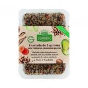 Ensalada 3 quinoas verduras y manzana eco vegano Obrador Sorribas
