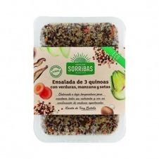 Ensalada 3 quinoas con verduras, manzana y setas 200gr Obrador Sorribas