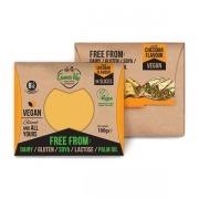 Queso vegano en lonchas sabor Cheddar 180gr Green Vie