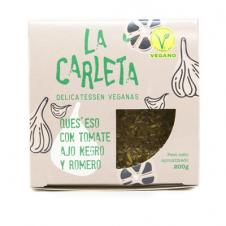 Queso vegano entero tomate romero y ajo negro 200gr La Carleta