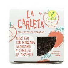 Queso vegano entero con manzana arandanos y semillas de amapola 200gr La Carleta