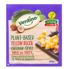 Queso vegano Bloque Cheddar 200gr Verdino