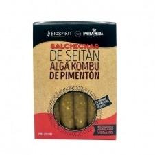 Salchicha Vegana de Seitán Kombu y Pimentón 200gr Biospirit