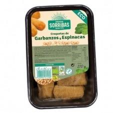 Croquetas de Garbanzos y Espinacas Eco 210gr Obrador Sorribas