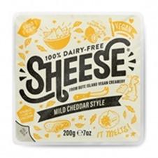 Queso vegano en Bloque estilo Cheddar semicurado 200gr Sheese