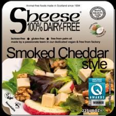 Queso vegano en bloque estilo Cheddar ahumado 200gr Sheese