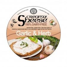 Queso vegano para untar sabor Ajo y Hierbas 255gr Sheese