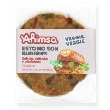 Hamburguesa Vegana Seitán Shiitake y Pimientos Bio 160gr Ahimsa