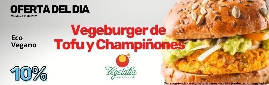 Abril 2021 Oferta del día Vegeburger de Tofu y Champiñones Vegetalia