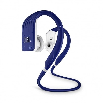 JBL Endurance Jump - Earphones with mic - in-ear - behind-the-neck mount - Bluetooth - wireless - blue