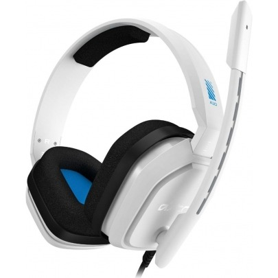 ASTRO A10 - Headset - full size - wired - 3.5 mm jack - white - for Sony PlayStation 4, Sony PlayStation 4 Pro, Sony PlayStation 4 Slim