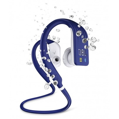 JBL Endurance Dive - Earphones with mic - in-ear - behind-the-neck mount - Bluetooth - wireless - blue