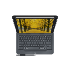 Logitech Universal Folio for 9-10 inch Tablets - Keyboard and folio case - wireless - Bluetooth 3.0 - Pen not Included