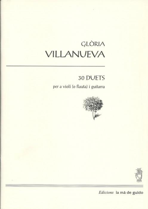 Gloria Villanueva 30 Duetos Para Guitarra Y Flauta