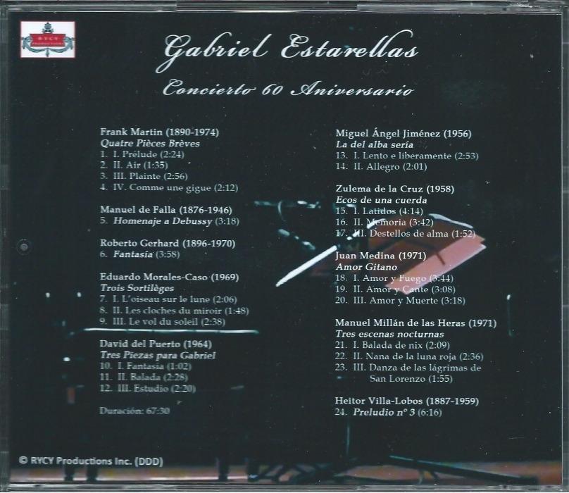Gabriel Estarellas, Concierto 60 Aniversario