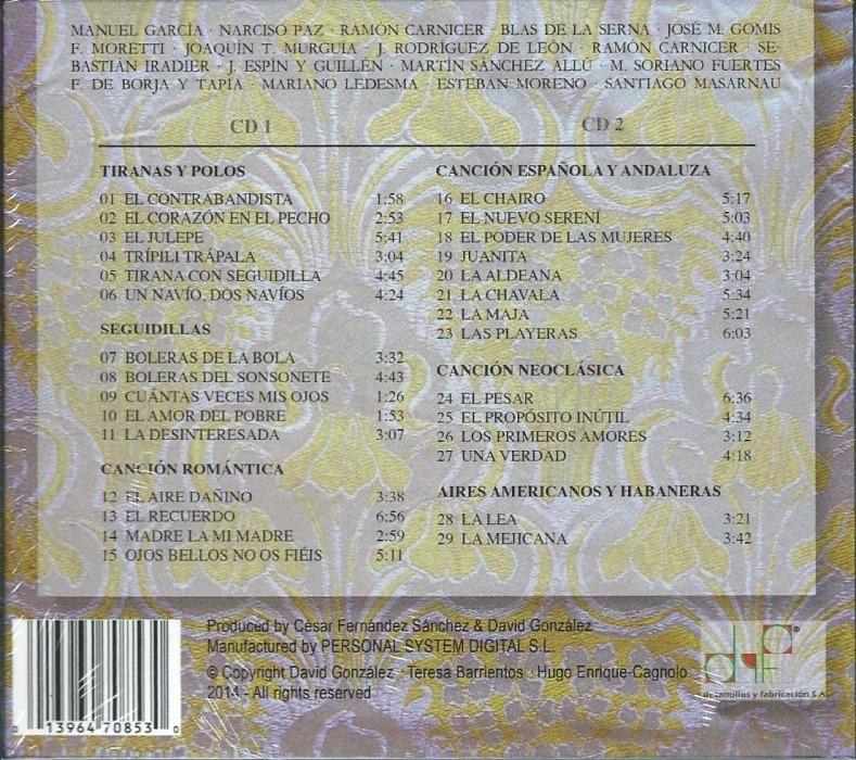 Cd Perlas Espanolas Del XIX Back