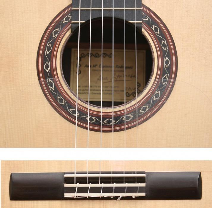 Guitarra Ana Espinosa Flamenco Negra Roseta