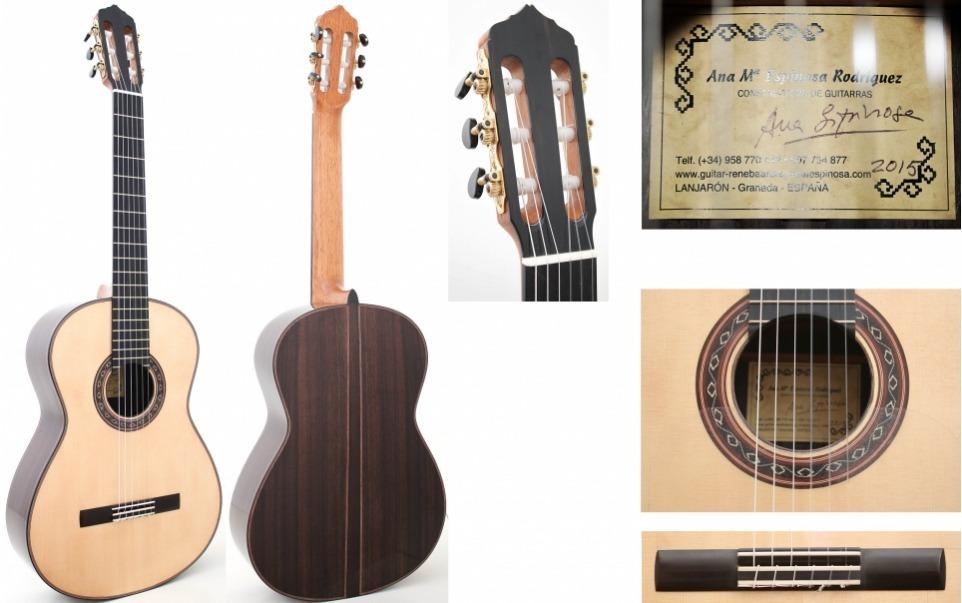 Guitarra Ana Espinosa Flamenco Negra Detalles