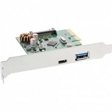 InLine USB 3.1 host controller - adaptador USB