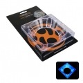 Revoltec RZ005. Adaptador ventilador 80 a 120mm ACRYLIC, UV azul