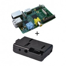 barebone Raspberry Pi con 512Mb - 2 USB Negra