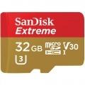 TARJETA DE MEMORIA SANDISK EXTREME MICROSDHC DE 32 GB + ADAPTADOR SD
