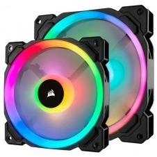 VENTILADOR CAJA CORSAIR LL120 RGB 120MM DUAL LIGHT LOOP RGB LED PWM FAN 3 FAN PACK CON LIGHTING NODE