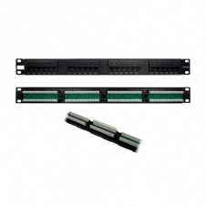 PANEL DE TRANSFERENCIA RACK 1U 24P CAT5 PHASAK