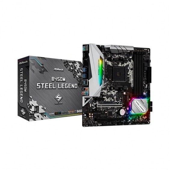 PLACA BASE ASROCK AM4 B450M STEEL LEGEND