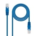 Nanocable CABLE RED LATIGUILLO RJ45 CAT.6 UTP AWG24, AZUL, 2.0 M