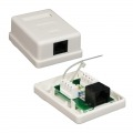 NANOCABLE ROSETA DE SUPERFICIE PARA RJ45 CAT.5E UTP 1 TOMA, BLANCO