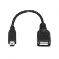 NANOCABLE CABLE USB 2.0 OTG TIPO MINI B/M-A/H NEGRO 15 CM 10.01.3800