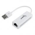 GEMBIRD TARJETA DE RED USB A RJ45 ETHERNET 100Mbit/s 0.10M BLANCO