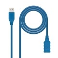 Nanocable CABLE USB 3.0, TIPO A/M-A/H, AZUL, 2.0 M