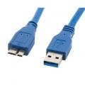 LANBERGCABLE USB 3.0 MACHO A USB MICRO B MACHO CA-US3M-10CC-0005-B,AZUL,50 CENTÍMETROS