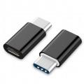 GEMBIRD ADAPTADOR USB-TIPO C a MICRO-USB M/H NEGRO A-USB2-CMmF-01