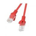 LANBERG CABLE DE RED PCU6-10CC-0200-R , RJ45 , UTP , CAT 6 , 2M , ROJO