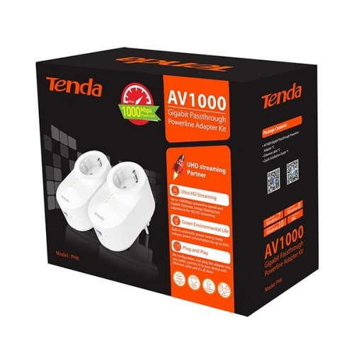 Tenda PH6 Kit Adaptador de red powerline 1000 Mbit/s Ethernet Blanco