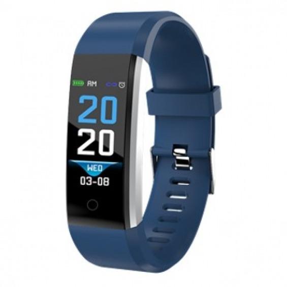 Pulsera reloj deportiva denver bfh - 16 0.96pulgadas azul - bluetooth - fitnessband