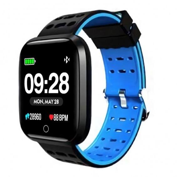 Reloj innjoo sport watch azul cuadrado - 1.33pulgadas - 512kb rom - 64kb ram - bluetooth 4.0