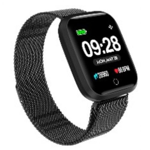 Reloj innjoo sport watch negro metalico cuadrado - 1.33pulgadas - 512kb rom - 64kb ram - bluetooth 4.0