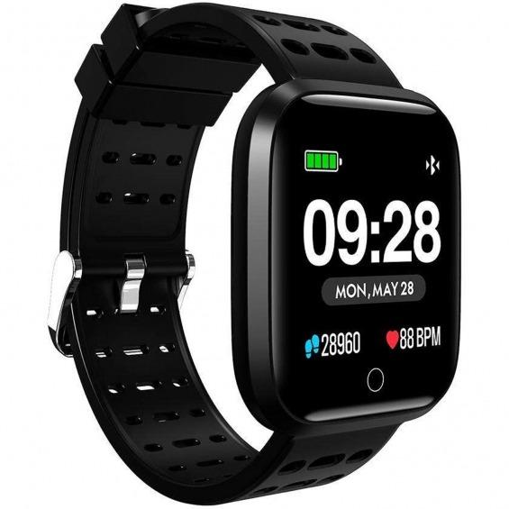 Reloj innjoo sport watch negro cuadrado - 1.33pulgadas - 512kb rom - 64kb ram - bluetooth 4.0