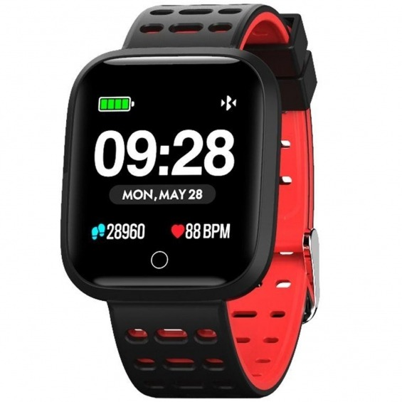 Reloj innjoo sport watch rojo cuadrado - 1.33pulgadas - 512kb rom - 64kb ram - bluetooth 4.0
