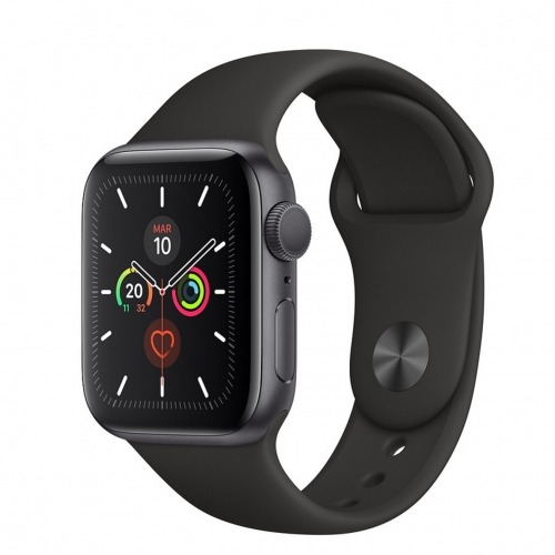 Reloj apple watch series 5 44 mm caja de aluminio con correa deportiva space gray